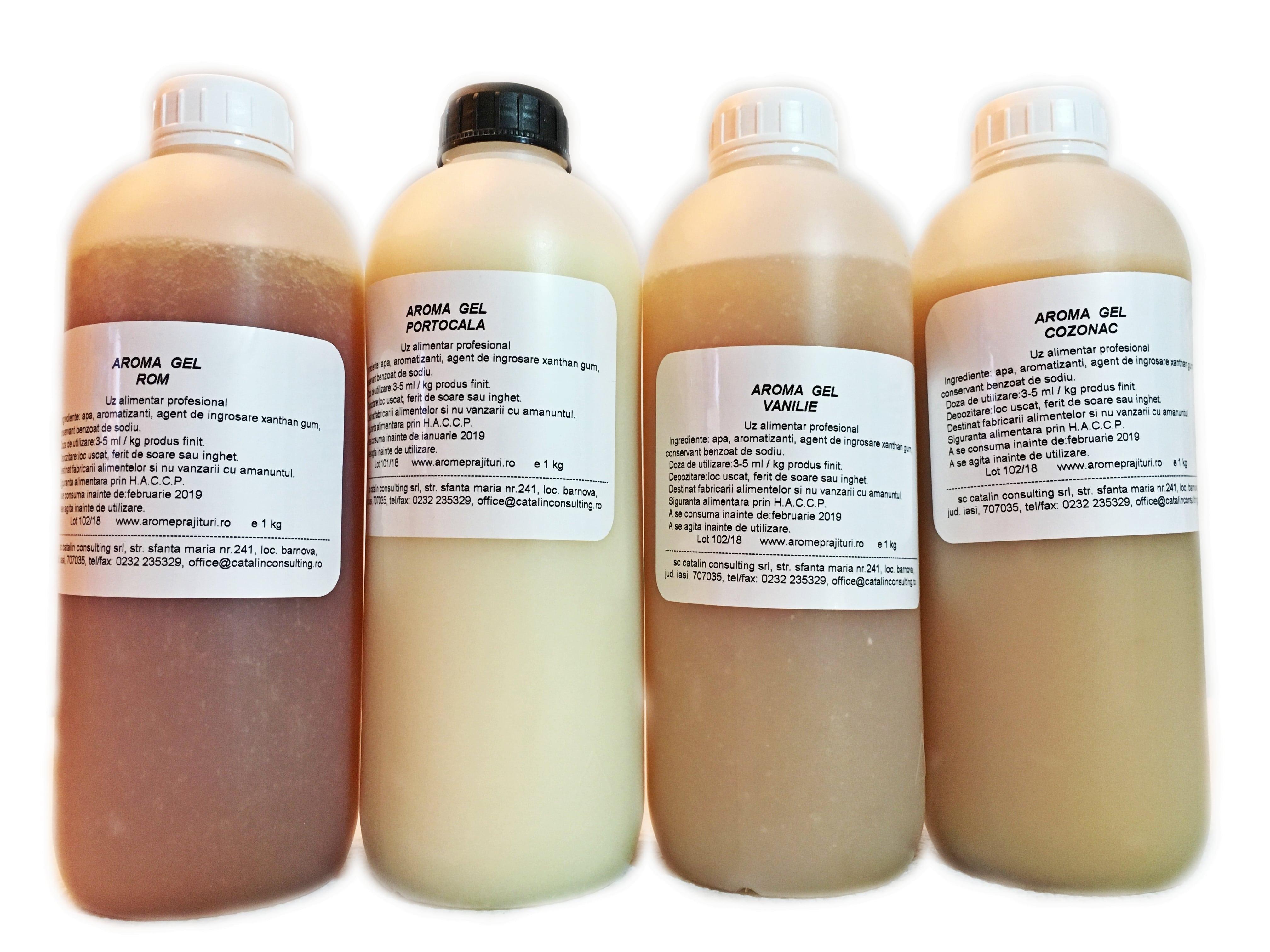 Aroma alimentara gel
